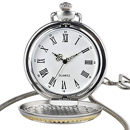 3d-Eisenbahn-Zug-Lok-Herren-Quarz-Taschenuhr-rmischen-numberal-Kette-aus-Sterling-Silber