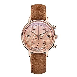 Elysee-Minos-Lady-modische-Damen-Uhr-Wildleder-Chronograph