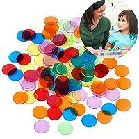 Lvcky-120-Stck-transparent-Farbe-Marken-Counting-Bingo-Chips-Kunststoff-Marker-mit-Aufbewahrungstasche