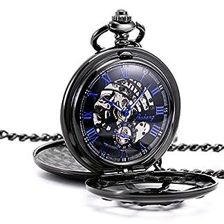 TREEWETO-taschenuhr-mit-kette-herren-schwarz-doppelabdeckungen-blau-rmische-ziffern-retro-uhr-taschenuhren-mechanisch-pocket-watch