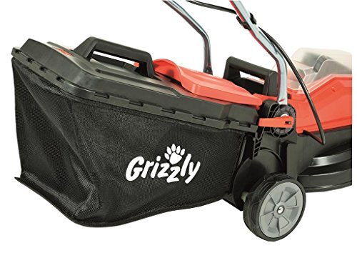 Grizzly-Akku-Rasenmher-ARM-2433-20-24-V-30-Ah-Lithium-Ionen-Akku-33-cm-Schnittbreite-5-fache-Hhenverstellung-35-Liter-Fangkorb-mit-Hardtop-und-Fllstandsanzeige