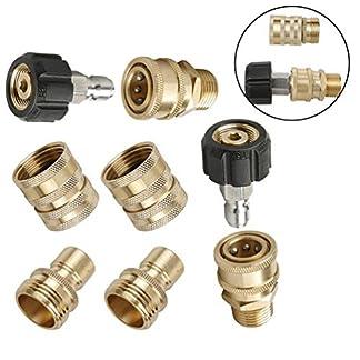 8-Stcke-Durable-Hochdruckreiniger-Verbinden-Zubehr-Set-Tragbare-Schnellwechsler-Plug-Hochdruckreiniger-Zubehr-Schraube-Nippel
