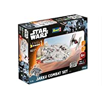 Revell-Modellbausatz-Star-Wars-Jakku-Combat-Set-im-Mastab-151-Level-1-originalgetreue-Nachbildung-mit-vielen-Details-Build-Play-mit-LightSound-zum-Bauen-Spielen-06758