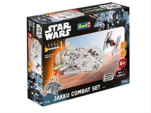 Revell-Modellbausatz-Star-Wars-Jakku-Combat-Set-im-Mastab-151-Level-1-originalgetreue-Nachbildung-mit-vielen-Details-Build-Play-mit-LightSound-zum-Bauen-Spielen-06758