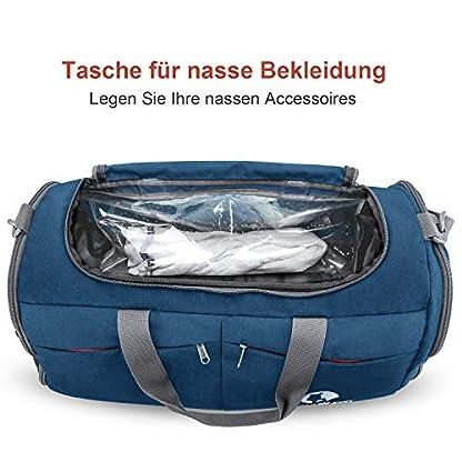 CANWAY-Faltbare-Sporttasche-Faltbare-Reisetasche-mit-dem-schmutzigen-Fach-und-Schuhfach-Leichtgewicht-fr-Mnner-und-Frauen