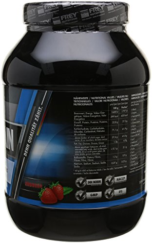 Frey Nutrition Mega Gain Erdbeer Dose, 1er Pack (1 x 1 kg)