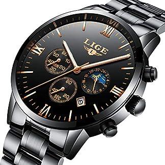 Lige-Herren-Armbanduhr-wasserdicht-Sport-Chronograph-analog-Quarz-blaues-Zifferblatt-Kalender-fr-Herren-Business-Casual-Luxus-Armbanduhr-Goldblau