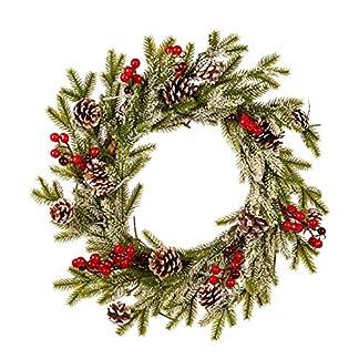 Weihnachten-Girlande-Frhlich-Weihnachten-Party-Weihnachtsstern-Kiefer-Kranz-Tr-Wand-Girlande-Dekoration-Kranz-Zubehr