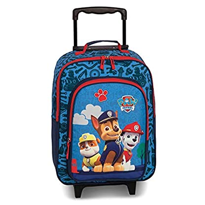 Nickelodeon-Soft-Trolley-42-Cm-2-Wheels-Paw-Patrol-Blauw-M-Dunkelblau