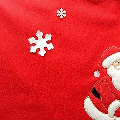 YJZQ-Weihnachtsbaum-Rock-Vliesstoff-Weihnachtsschmuck-Weihnachtsbaumdecke-Schutz-vor-Tannennadeln-Rot-Rock-Urlaub-Baum-Ornamente-Dekoration-fr-Weihnachten-90cm