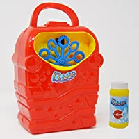 Seifenblasenmaschine-BUBBLE-Seifenblasen-Spielzeug-inkl-117ml-Blasenlsung-Lila