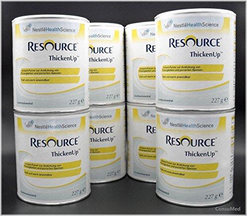 8x 227g ThickenUp von Nestle Health Science Andickungsmittel – Andickungspulver – im exclusiven ConsuMed Bundle