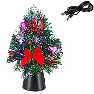 Casaria-Weihnachtsbaum-26cm-knstlicher-USB-Tannenbaum-Mini-Glasfaser-Christbaum-Baum-Tanne-Weihnachten-Stnder