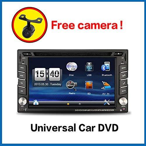 WIN-CE-Produkt-157-cm-Doppel-DIN-IN-DASH-CAR-DVD-Player-Stereo-Touch-Bildschirm-mit-Bluetooth-USB-SD-MP3-FM-AM-Radio-fr-Universal-Auto-Frei-Backup-Kamera-GPS-Antenne