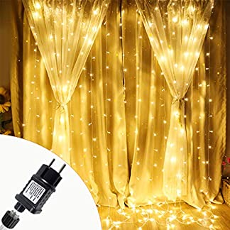 Aufun-LED-Lichtervorhang-Warmwei-3x3m3x6m-300600-LEDs-Lichterkette-mit-einem-Stecker-IP44-Wasserdicht-Vorhang-Licht-fr-Weihnachten-Partydekoration-8-Leuchtmodi-mit-Speicherfunktion