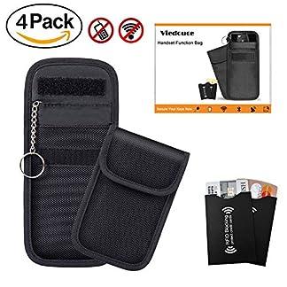 Viedouce-2x-Keyless-Go-Schutz-Autoschlssel-2x-RFID-Blocker-Schutzhllen-fr-Kreditkarten-Bankkarten-Verhindere-den-Diebstal-deines-Autos-Autoschlssel-Hlle-RFIDNFCWLANGSMLTE-Blocker