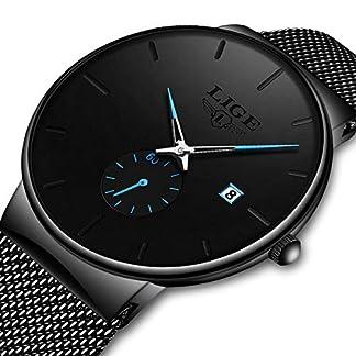 LIGE-Uhren-Herren-Schwarz-Edelstahl-Mesh-Chronograph-Quarz-Uhr-Mnner-Elegant-Datum-Kalender-Sport-Dress-Quarzuhr-Wasserdicht-Multifunktions-Armbanduh