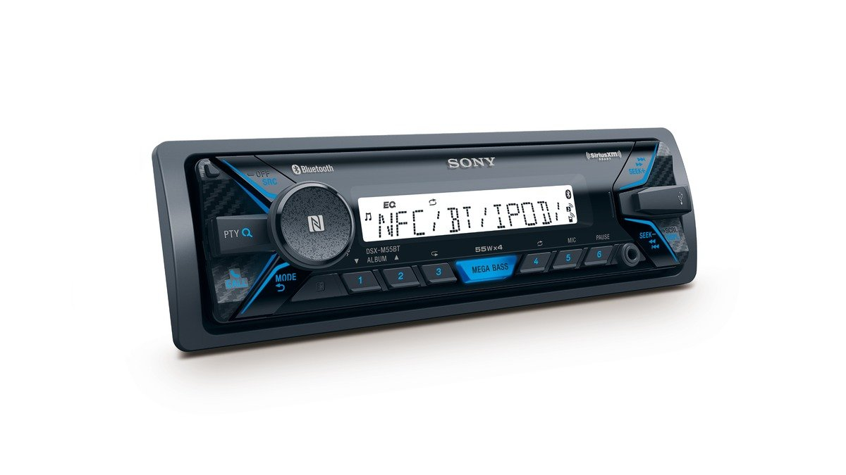 Sony-seetaugliches-Marine-Radio-DSX-M55BT-Bluetooth-mit-Anti-Rost-und-UV-Beschichtung-4-x-55-Watt