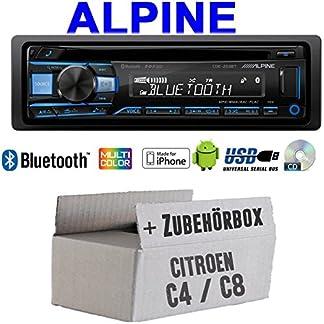 Autoradio-Radio-Alpine-CDE-203BT-Bluetooth-CD-USB-MP3-1-DIN-Auto-Einbauzubehr-Einbauset-fr-Citroen-C4-C8-JUST-SOUND-best-choice-for-caraudio