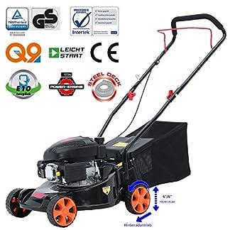 Sweepid-Benzin-Rasenmher-123ccm-16kW-30PS-41cm-Schnittbreite-Stahlgehuse-40L-Fangkorb-Easy-Clean-4-Takt-Motor-Mher-TV-SD