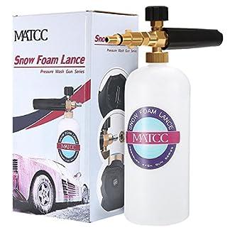MATCC-Schaumdse-1L-Schaumlanze-Messing-Dse-Schneeschaum-Schaumpistole-Hochdruckreiniger-Snow-Foam-Autowsche-Fr-Nilfisk-C130-E130-E140