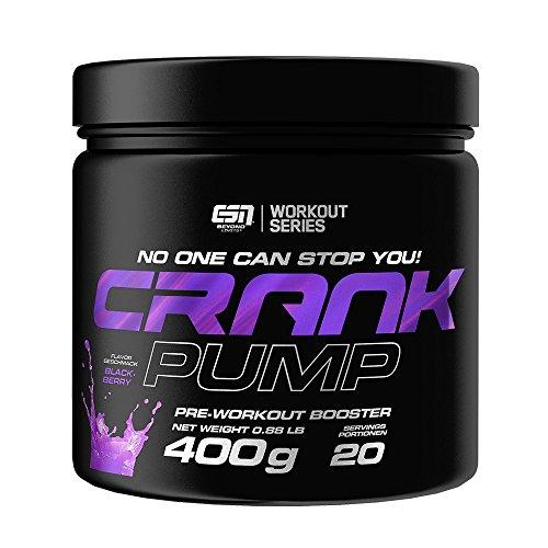 ESN CRANK PUMP, Pre Workout Booster, Blackberry, 400g