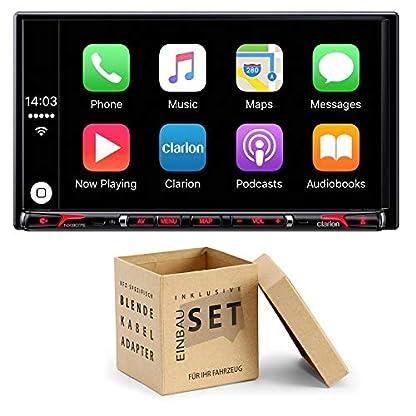 Clarion-NX807E-Radio-Navigation-Apple-CarPlay-mit-Einbauset-fr-Kia-Sorento-II-XM-2009-2012