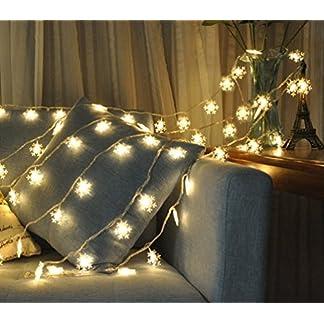Salcar-LED-Lichterkette-6-Meter-10-Schneeflocken-IP44-wasserdicht-Niederspannung-31V-fr-Weihnachten-Deko-Party-Festen-Warmwei