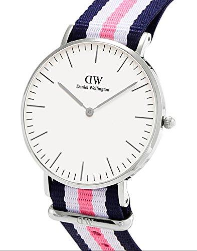 Daniel-Wellington-Damen-Armbanduhr-Southampton-Analog-Quarz-Nylon-DW00100050