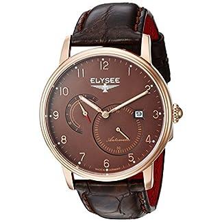 Elysee-Herren-Uhr-Priamos-edles-Design-Quarzuhrwerk-mit-hochwertigem-Lederarmband
