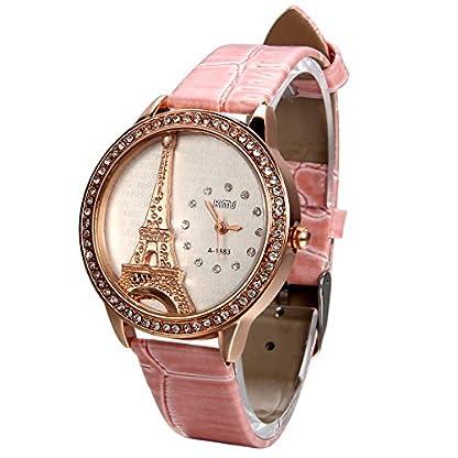 JewelryWe-Damen-Armbanduhr-Analog-Quarz-Exquisite-Leder-Armband-Uhr-mit-Strass-Eiffelturm-Zifferblatt-4-Farben