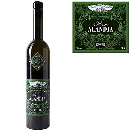 Deutscher-Premium-Absinth-Maison-ALANDIA-Traditionelle-Rezeptur-Mit-16-Krutern-destilliert-70-Vol-07-Liter-Handverkorkte-und-verwachste-Flasche