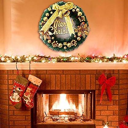 15inch-Weihnachten-Krnze-Christmas-Dekoration-Tr-hngen-Kranz-Dekor-Tannennadeln-Windows-Ornamente-Girlande-Kranz-Beflockung-Anhnger-mit-Frost-Ornamente