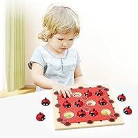 Kinder-Memory-Training-Spiel-Schach-Kinder-Holz-Cartoon-Marienkfer-Design-Montessori-Frhe-Entwicklung-Spielzeug-fr-Kinder