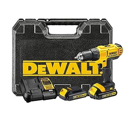 DeWalt-XR-Akku-Bohrschrauber-DCD771C2–Akkubohrer-mit-2-Gang-Vollmetallgetriebe-LED-Arbeitslicht–Robust-und-universell-einsetzbar–1-x-Akkuschrauber-Li-Ion-18-V-2-Akkus