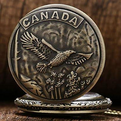 Herren-Taschenuhr-Retro-Bronze-Kanada-Eagle-Fall-Quarz-Taschenuhr-Weihnachten-Geschenk-fr-Herren