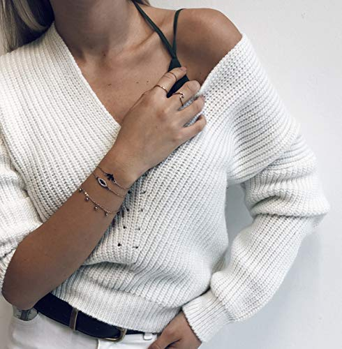 Happiness Boutique Damen Zarter Ring Welle in Rosegold | Filigraner Wellenförmiger Ring aus Edelstahl