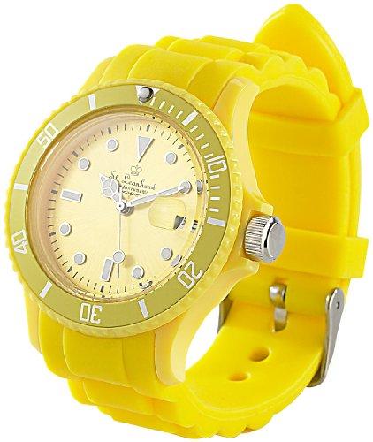 ST-Leonhard-nc7162–944–Armbanduhr-Silikonarmband-Farbe-Gelb