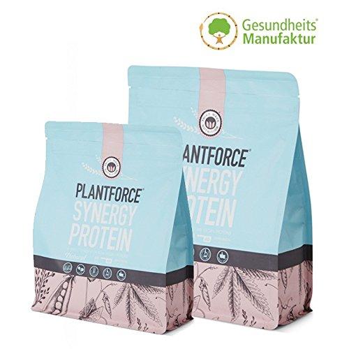 Plantforce Synergy Natural – Vegane natürliche Proteine, allergenfrei und glutenfrei, enthält alle essentiellen Aminosäuren