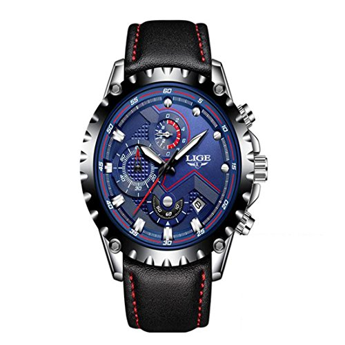 Godagoda-Herrenuhr-Analog-Wasserdicht-Automatic-Mechanische-Armbanduhr-Skelett-Design-Multifunktion-Eelstahl-oder-Leder-Armband-Uhr