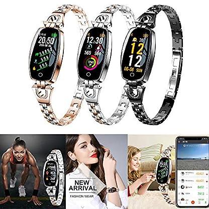 Hukz-Schickes-ArmbandH8-Farbbildschirm-Blutdruck-Herzfrequenzmesser-Smart-Armbanduhr-SchrittzhlerAussehen-Material-Oberschale-Legierung