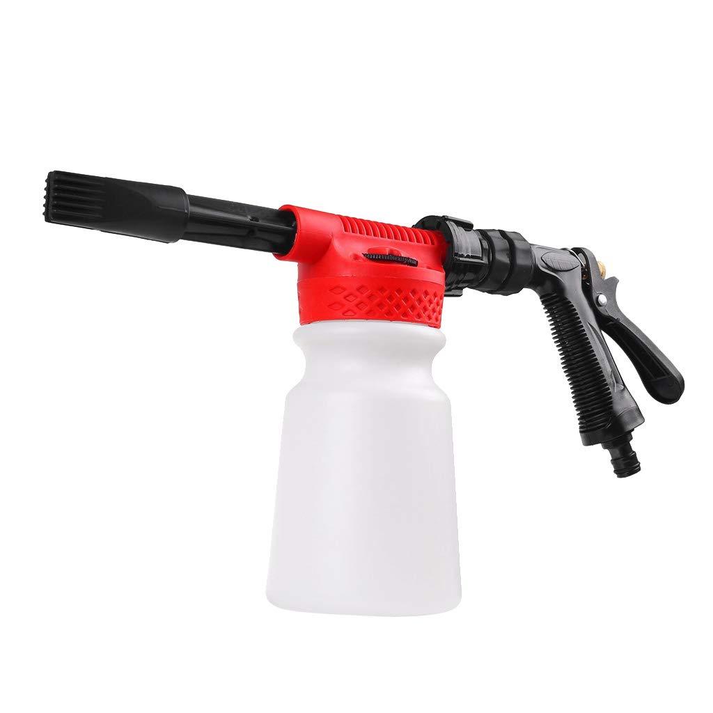 Homyl-Einstellbare-Pistole-Lanze-Spritze-mit-Schaumflasche-fr-Hochdruckreiniger-zum-Auto-Haus-usw