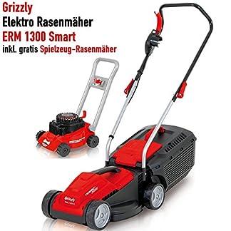 Grizzly-Elektro-Rasenmher-ERM-1333-1300-W-Turbo-Power-Motor-33-cm-Schnittbreite-30-Liter-Fangbox-mit-Tragegriff-Inkl-Kinder-Rasenmher