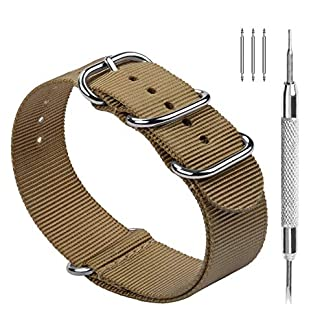 Fullmosa-Nylon-Uhrenarmband-18202224mm-in-10-Farben-Zulu-Serie-Ersatzband-mit-verstellbarem-Edelstahl-Metall-Schliee-fr-HerrenDamen