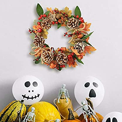 35-CM-Halloween-Kiefer-Girlande-Herbst-Herbst-Ahorn-Bltter-Natrliche-Knstliche-Krbisbeere-Dekorativen-Kranz-fr-Weihnachten-Thanksgiving-Decor