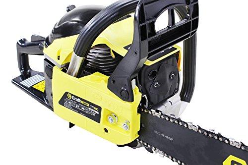 Craftfull-Benzin-Kettensge-CW200-Professionelle-Motorsge-Motorkettensge-56cc-31-PS-mit-2-x-20-Zoll-Fhrungsschienen-und-Ketten-Kettenschwerter-inklusive-Aufbewahrungskoffer