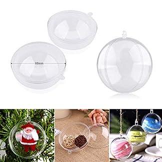 Shirylzee-12-Stck-transparente-Kunststoffkugeln-Christbaumkugeln-2-teilig-befllbar-Weihnachtsbaum-Ornamente-Dekoration-Geburtstag-Ostern-Basteln-Ball-Ornamente-8-cm