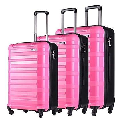 HOT-CASE-Reisekoffer-Trolley-Set-3tlg-aus-Carbon-mit-Zahlenschloss-und-4-Rollen