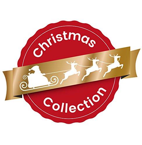Heitmann Deco Adventskalender zum Aufhängen und selbst Befüllen – Filz-Adventskalender – Rot, Beige, Weiß