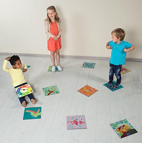 Lilliputiens-85048-Familienspiel-Jungle-Race-lebensgroes-Brettspiel-fr-die-ganze-Familie-Mae-265-x-265-x-55-cm-ab-4-Jahren